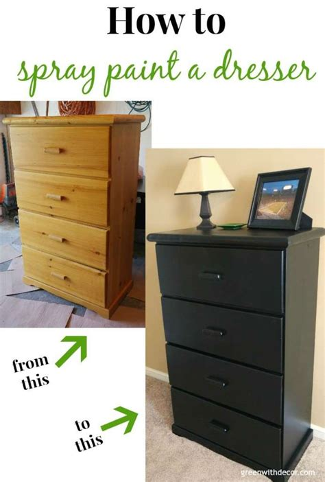 Spray Paint A Dresser by Green With Decor Spray Painting The Dresser