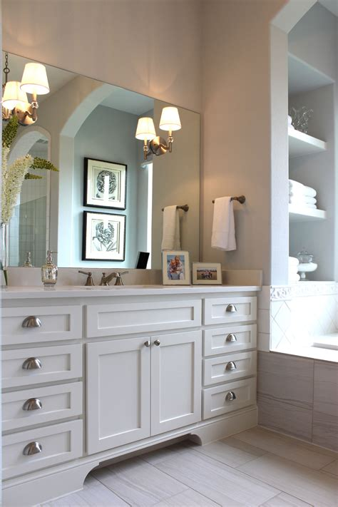 Shaker Bathroom Furniture White Shaker Style Master Bath Cabinets
