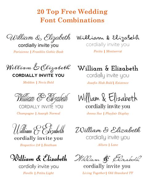 Wedding Invitations Fonts by Free Wedding Font Combinations Papelaria