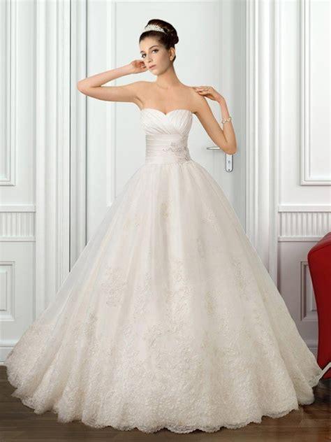 sweetheart strapless princess wedding dress sang