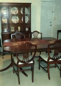 vintage thomasville mahogany dining room set table chairs