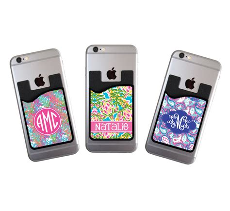 Credit Card Iphone Stand Template monogrammed personalized cell phone card caddy phone