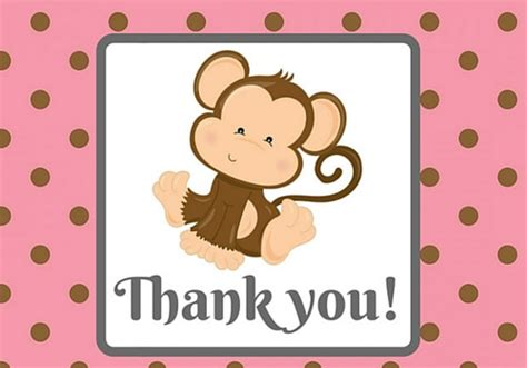 Monkey Baby Shower Thank You Cards by Monkey Thank You Free For Everyone Ecards Greeting Cards