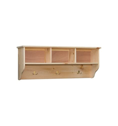 Unfinished Dining Room Tables by 48 Inch Amish Triple Cubby Wall Shelf Wood You