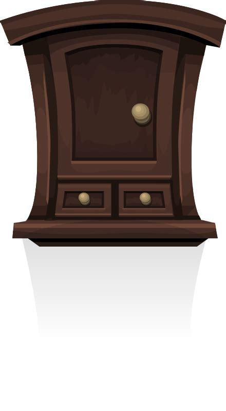Dark Wood Storage Cabinet Clipart Wall Cabinet From Glitch