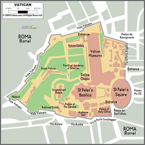vatican city map in world vatican city political map