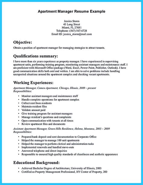 Apartment Rental Sle Resume by There Are Several Parts To Write Your Assistant Property Manager Resume Well All Of Them Are