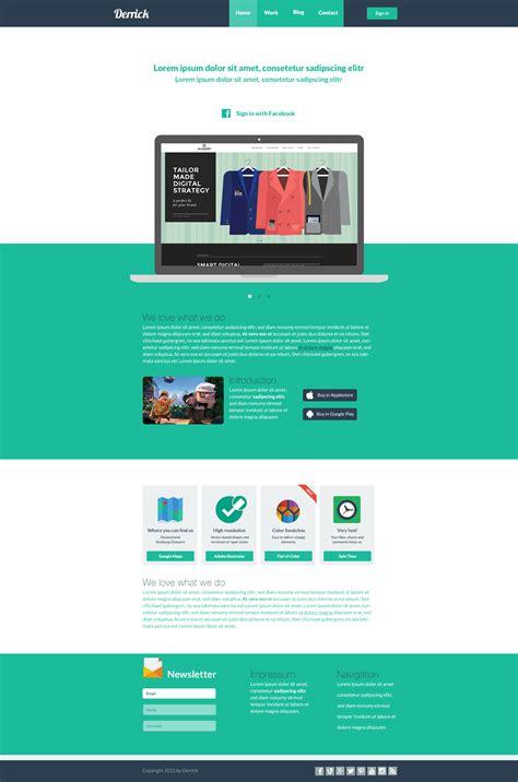 tutorial flat web design webdesign flat derrick by freddidesign on deviantart