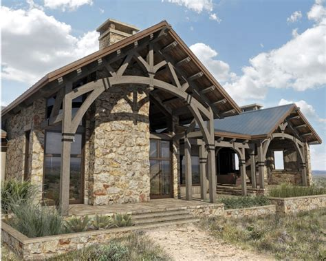 Hill Country Ranch Colorado Timberframe Country Timber Frame House Plans