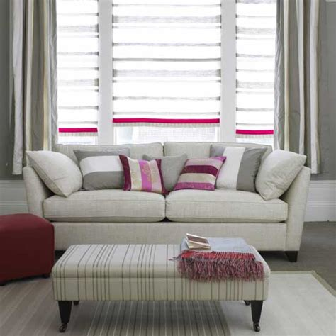 Striped Chairs Living Room Grey And Pink Striped Living Room Living Room Furniture Decorating Ideas Ideal Home