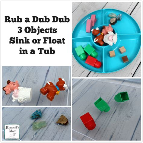 Objects That Sink And Float by Rub A Dub Dub 3 Objects Sink Or Float In A Tub