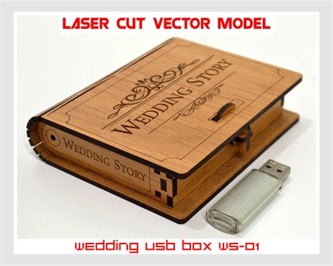 template packaging lop wooden small box wedding usb case wedding usb box
