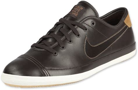 nike flash leather shoes brown