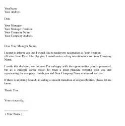 What To Say In Resignation Letter by Sle Resignation Letter Writing Professional Letters