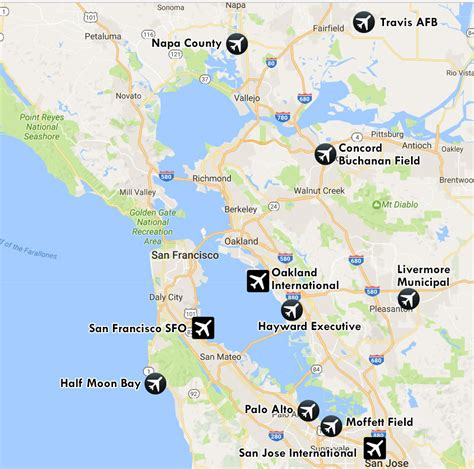 san francisco map with airport airports of san francisco bay a spotting guide airport