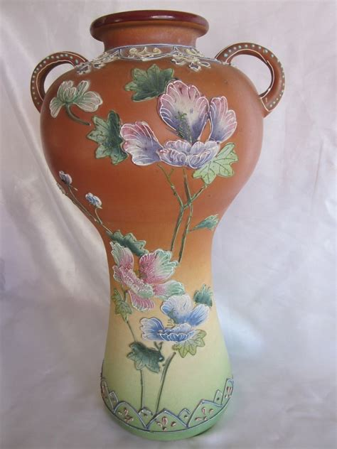 Made Vases by Made In Japan Moriage Pottery Vase 16 Quot Ebay