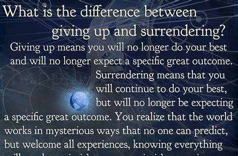 giving   surrendering