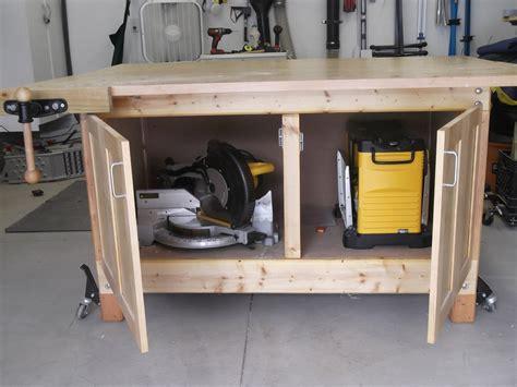 mobile woodworking bench mobile workbench by jdoerr lumberjocks com