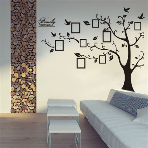 wall decor ideas for family room family tree wall decal sticker photo frame living room