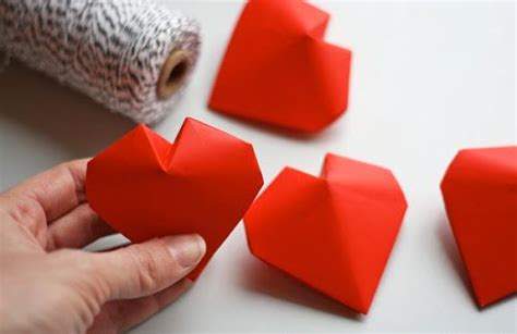 Origami For Valentines Day - diy 3d origami hearts 2027395 weddbook