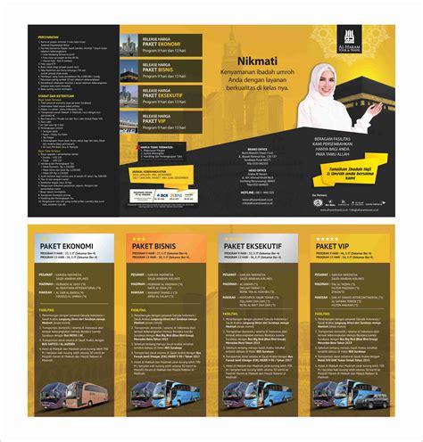 desain brosur 1 warna gallery desain brosur al haram tour travel