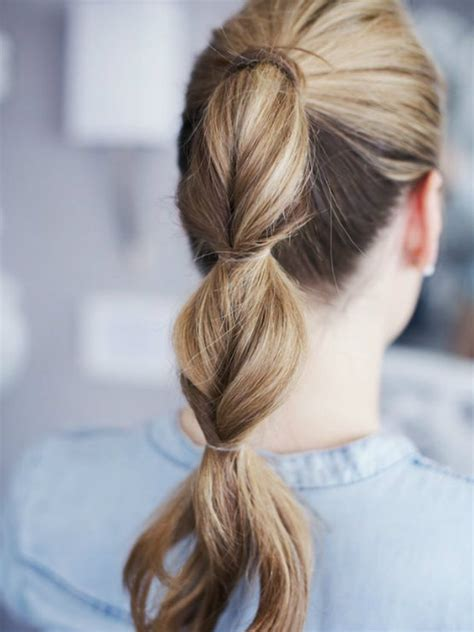 Fast Hairstyles For School by Twisted Ponytail Is Fast And Easy Hairstyles For School