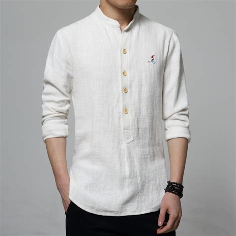 Kemeja Embroidery Ringgo White Kemeja Pria s casual sleeved shirt fashion style