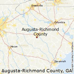 map of richmond county ga best places to live in augusta richmond county