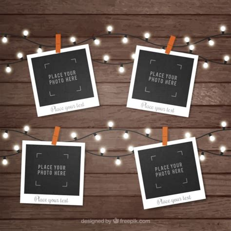 polaroid for polaroid picture frame collection vector free