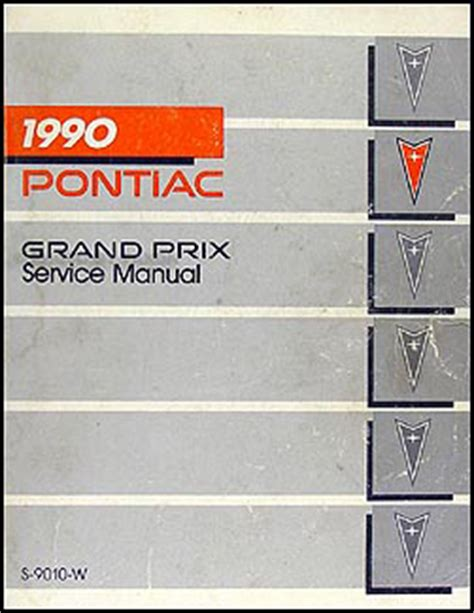 service manual old car manuals online 1990 pontiac grand 1990 pontiac grand prix repair shop manual original