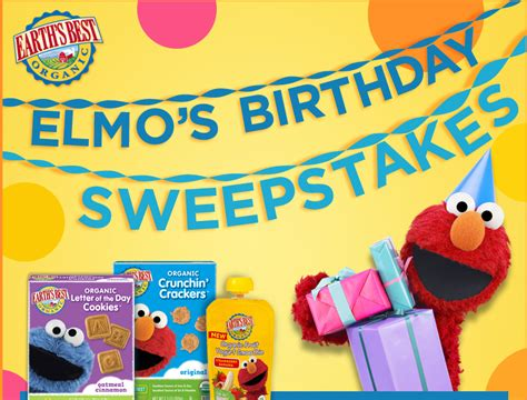 Easiest Sweepstakes To Win - earth s best elmo s birthday sweepstakes win a 500 bru shopping spree