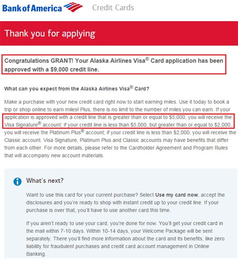 Bank Approval Letter For Visa Strange Approval For Bank Of America Alaska Airlines Credit Card Credit Lines Lowered Moved