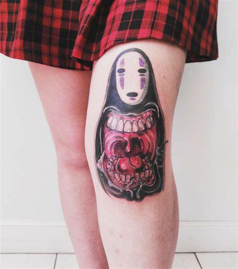 no face tattoo chihiro