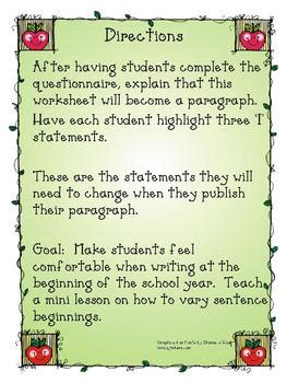 All About Me Essay High School by Back To School All About Me Paragraph Writing By A Midwest At