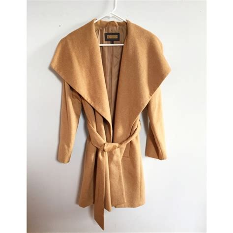 camel colored coat womens 14 mango outerwear mango camel colored wrap coat s