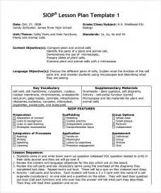 Siop Lesson Plan Template 1 by Sle Siop Lesson Plan Templates 10 Free Exles