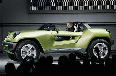 Chrysler Two Seater by Chrysler Unveils 2 Seat Concept Jeep Renegade At Auto Show