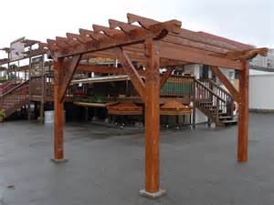 Prefabricated Pergola by Teak Pergola Prefabricated Kits