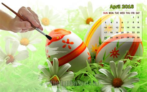 Calendar 2016 April Easter Month Wise Calendar Wallpapers Of 2016