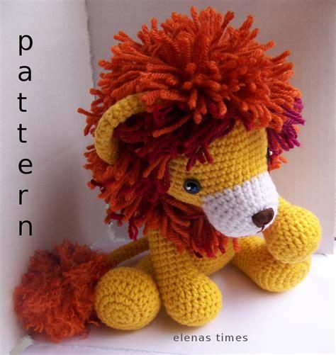 pattern crochet lion instant download crochet pattern baby lion toy lion
