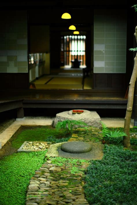 mix modern japanese courtyard  nature house
