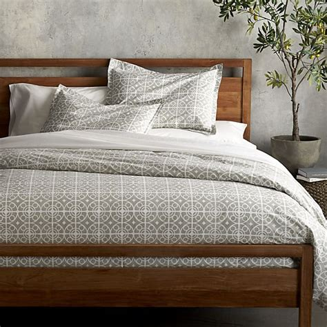 grey patterned bedspreads taza grey duvet covers and pillow shams crate and barrel