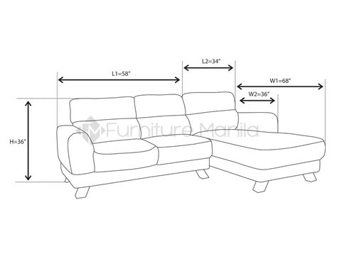 l sofa dimensions mhl 0072 azores l shaped sofa home office furniture