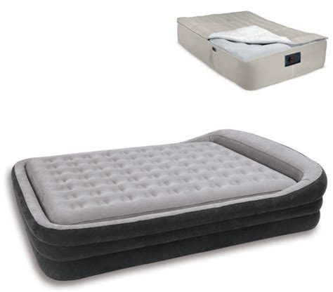 intex comfort frame airbed 2 in 1 air bed mattress kit blanket cover ebay