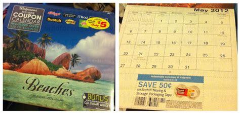 Calendar Coupon Walgreens Walgreens Coupon Calendars Southern Savers