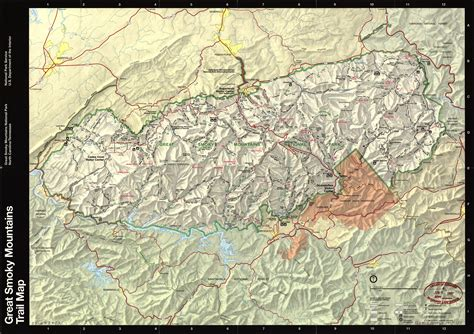 great smoky mountains national park map smoky mtn area map pictures to pin on pinsdaddy