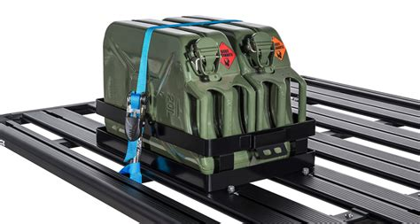 Jerry Can Holder Roof Rack by Rhino 43152 Horizontal Jerry Can Holder Roof Rack