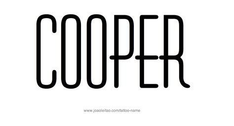 cooper name tattoo designs