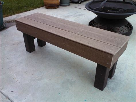 built  solid bench  leftover pieces  composite