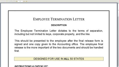 sample termination letters termination letter template 14 35